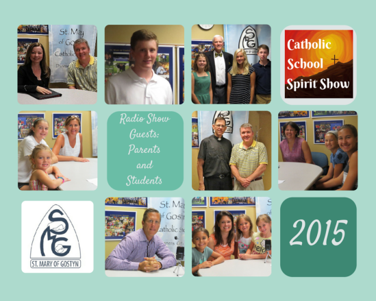 St. Mary of Gostyn collage of Parents and students on CSS Radio show 2015 (2)