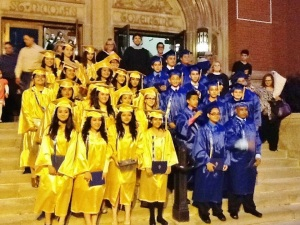 Graduates from St. Nicholas of Tolentine Catholic School