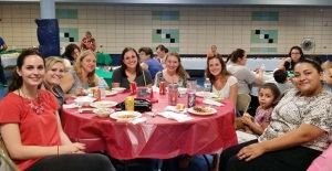 Warm and welcoming parents at the Spaghetti dinner