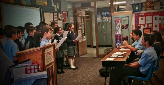 5th grade singing to 8th grade for Confirmation (which will occur the day after the show airs) (1)