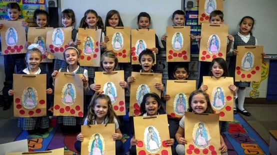 First Grade St. Juan Diego Guadalupe Tilmas