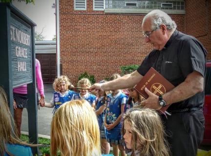 Fr. Bob Heinz at St. Norberts