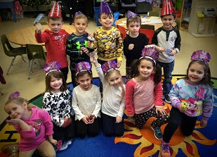 Pre-K 3's Happy New year reduced pixels