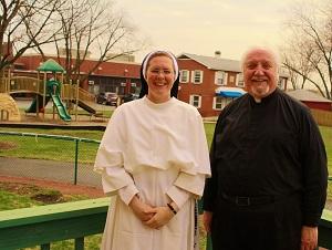 Sr. Cecilia Joseph, Principal and Fr. Michael Lane, Pastor at St. Jude's in Joliet, IL