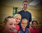 Fr. Tim with students
